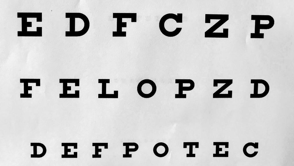 Free printable eye chart