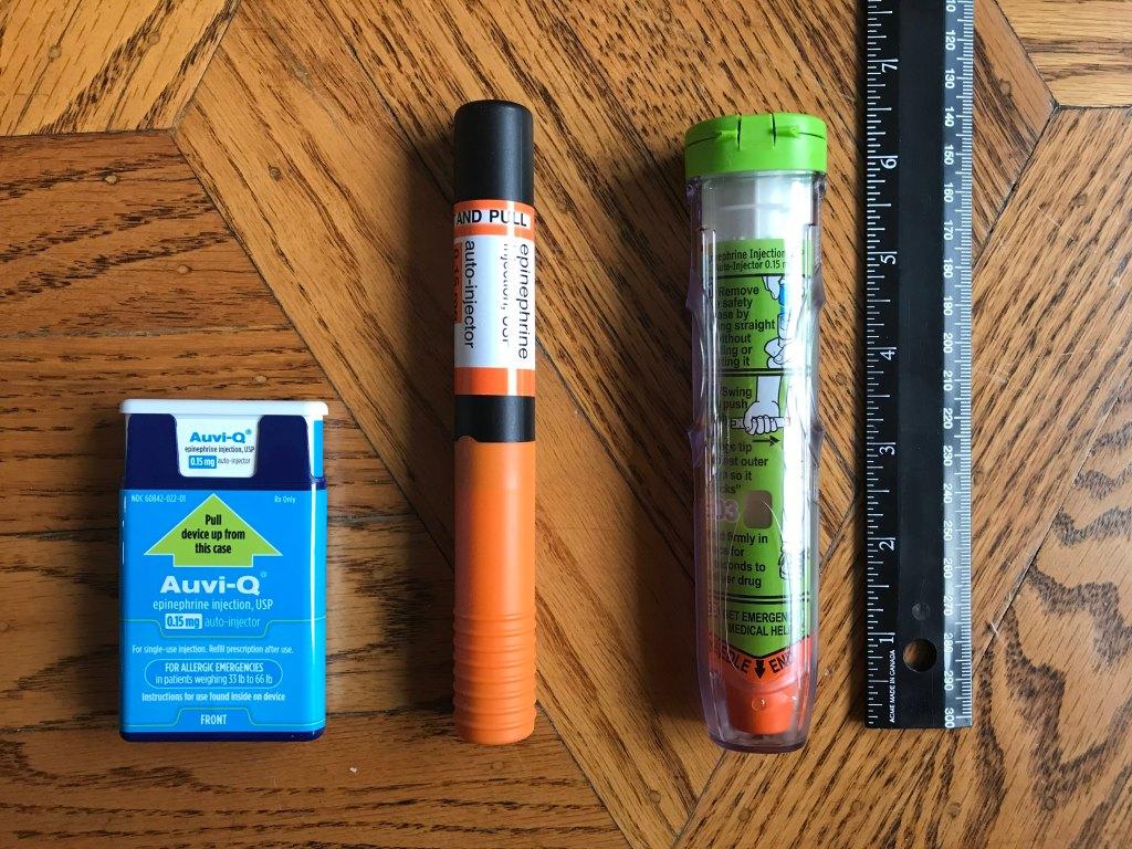 EpiPen size comparison